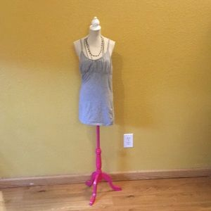 One Step Up Grey Tank Top